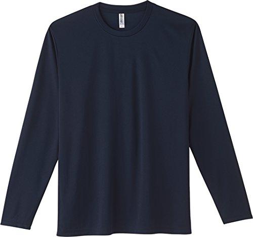 [グリマー] 3.5オンス インターロック ドライ 長袖 Tシャツ 00352-AIL ネイビー LL (日本サイズLL相当)