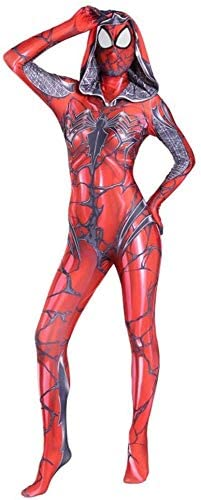 Spiderman Cosplay Spider Woman Kostuum Printing capuchon Halloween Bodysuit Jumpsuits Movie Props Adult Kids Combat pak,adult L