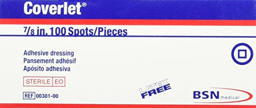 """BSN Medical Coverlet Bandages and Dressings, Spot 7/8"""" Round, Box of 100"""