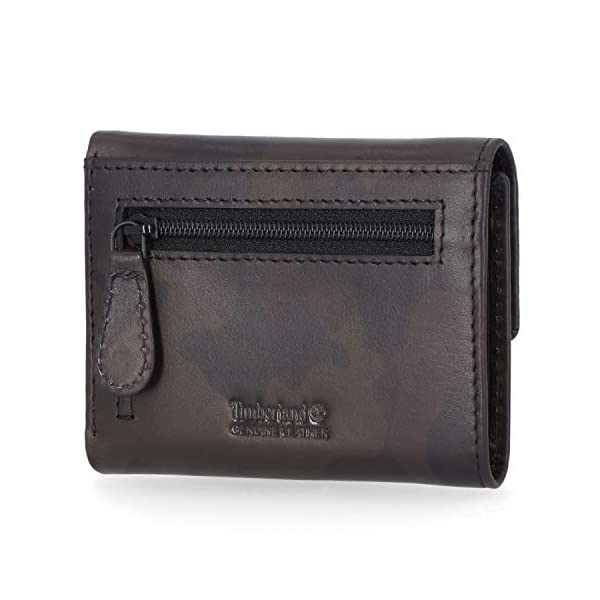 Timberland Women's Leather RFID Small Indexer Snap Wallet Billfold 3