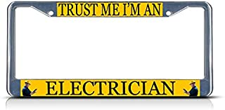 TRUST ME I AM A VAMPIRE Metal License Plate Frame Tag Border Two Holes