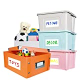 """80 Large Size Customizable Blank Labels,Great for Home Organization Projects,Easily Organize Bins, Storage containers, Desk Items, Kitchen containers and More(6"""" X 4"""")"""