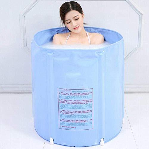 LXYFC Badewannen zusammenklappbare, aufblasbarer Erwachsene Badebottich, verdickte große Kinder Badewanne-Blau, 65 * 65cm