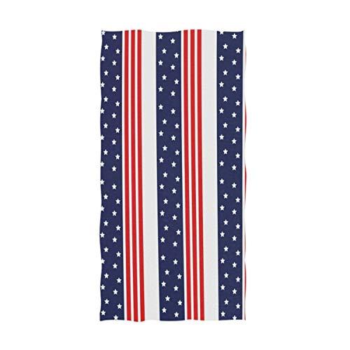 Bert-Collins Día de la Independencia 4 de Julio Toallas de Mano Bandera de EE. UU. con Estrellas y Rayas Toalla de Cocina de baño Multiusos Absorbente Ultra Suave (40 x 70 cm)