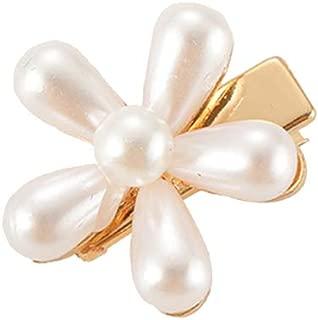 RingBuu - Hair Clip, Women/Girl, Wedding Party, Metal Alloy Hair Clip, Imitation Pearl, Flower Beaded, Jewelry Duckbill Hairgrip, Makeup Side Bang, Barrette