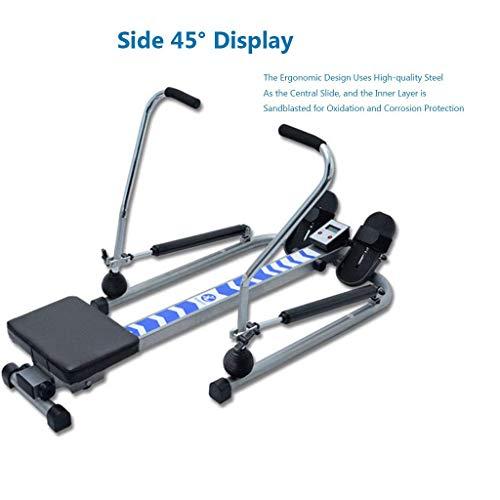 WJSW Fitnessgeräte 360 & deg; Rudergerät, Heimtraining Breite Muskeln, Männlich/Weiblich/Multifunktional Hydraulisch verstellbares Rudertrainingsgerät, Größe: 126 * 58 * 75cm