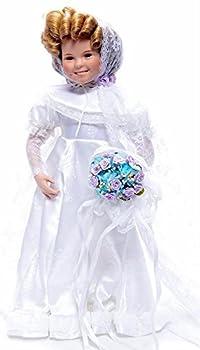 Danbury Mint Shirley Temple Curly Top Bride Porcelain Doll