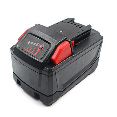 Heshunchang batería Repuesto 18v 9Ah para Milwaukee M18 48-11-1815 48-11-1820 48-11-1822 M18B2 M18B4 48-11-1828 48-11-1840 M18 XC C18B Li18 48-11-1830 M18BX M18B 48-11-1850 982-2