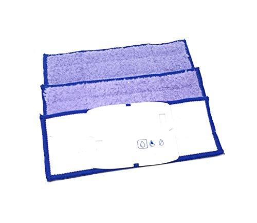 3 Nasswischtücher Pads, Tücher kompatibel mit iRobot Braava Jet 240, 241, 250 waschbar und wiederverwendbar