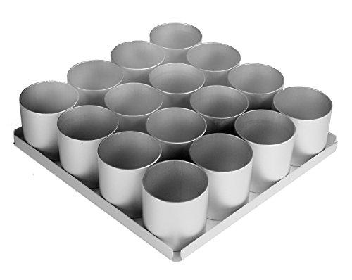 Alan Silverwood Lot de 16 Mini-Plats à gâteaux Ronds 5 cm de Profondeur