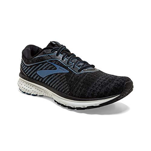 Brooks Mens Ghost 12 Running Shoe - Black/Grey/Stellar - D - 11.0