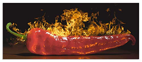 Artland Design Spritzschutz Küche I Alu Küchenrückwand Herd Gewürz Foto Rot G3IW Roter scharfer Chilipfeffer