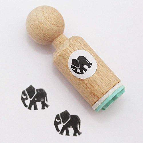 Elefanten runde Stempel - SEHR MINI - Handwerk / Scrapbooking / Stanzen