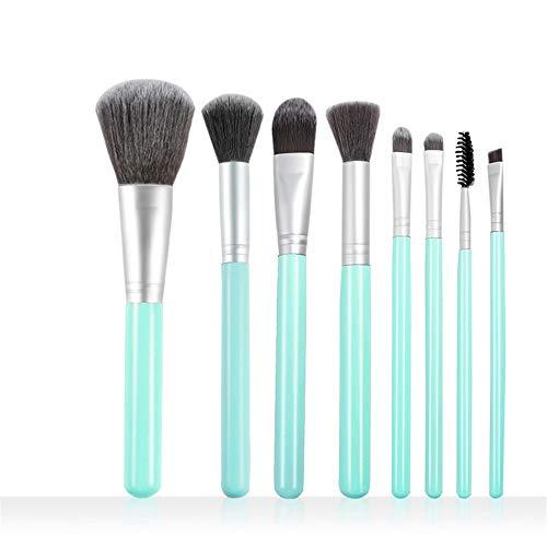 Jeu de pinceaux de maquillage pour débutants, 6 pièces, outil de maquillage, pinceau à sourcils, bleu