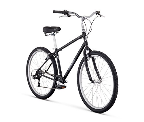 Raleigh Bikes Venture Comfort Bike, 17'/Medium, Black