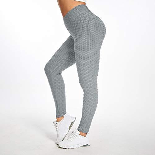 ddfd Leggings y Pantalones de Yoga de Cintura Alta para Mujer Pantalones Deportivos elásticos Informales Pantalones Informales de Entrenamiento elásticos Suaves (C, L)