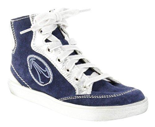 Richter Kinder Halbschuhe Sneaker blau Velourleder Mädchen Schuhe 4641-522-7201, Farbe:blau, Größe:33 EU