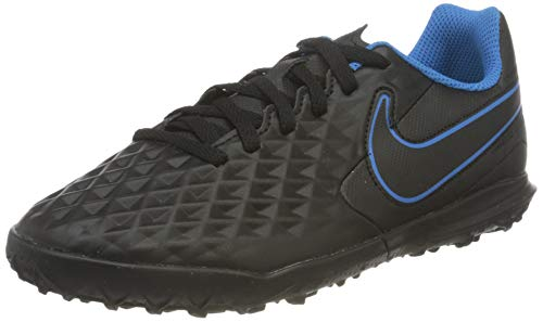 Nike JR Legend 8 Club TF, Scarpe da Calcio, Black/Black-lt Photo Blue-Cyber, 36.5 EU