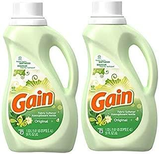 Gain Ultra Liquid Fabric Softener, Original Scent - 2 Pack x 51 Fl Oz / 1.5 L (60 Loads) Each