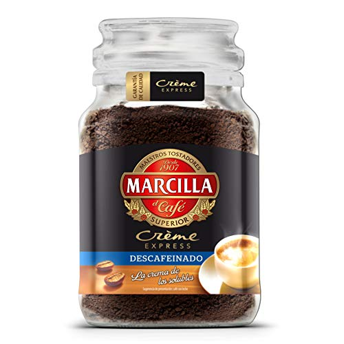 Café Marcilla soluble Crème Express Descafeinado, 200 gr. - [Pack de 6]