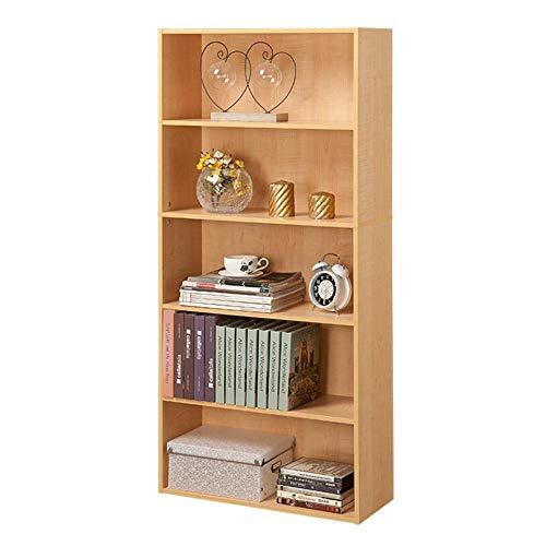JCNFA planken boekenkast deur met slot kast hout boek plank organisator opslag DIY kast planken slaapkamer kantoor woonkamer 23.62 * 9.37 * 51.96in Maple Color