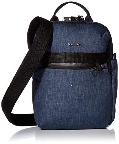 PacSafe Bolsa tiracolo masculina Metrosafe X antirroubo vertical, Metrosafe X transversal vertical antirroubo – Serve para tablet de 10 polegadas, Jeans escuro, 6.5 Liter