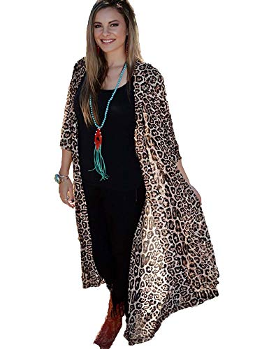 Crazy Train Western Flare Fashion Dusters, Leopard Dixie, One Size