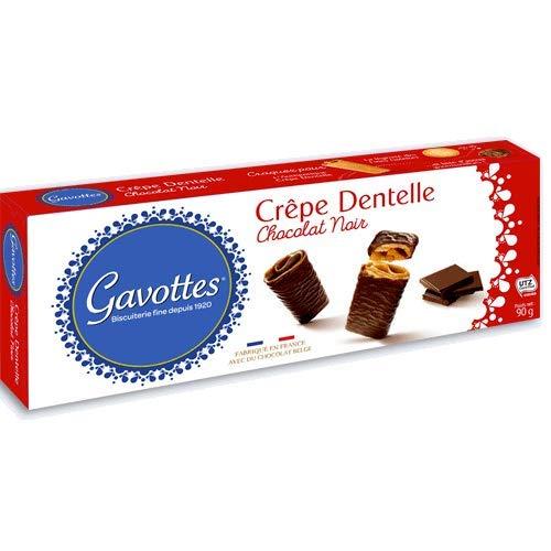 Gavottes - Waffelröllchen (Crêpe Dentelles) mit Zartbitterschokolade 90 g