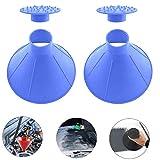 LIKECHEOME Round Ice Scraper Magic Cone-Shaped Car Windshield Ice Scraper, Magic Funnel Car Snow Removal Shovel Tool (Blue 2 Pack)