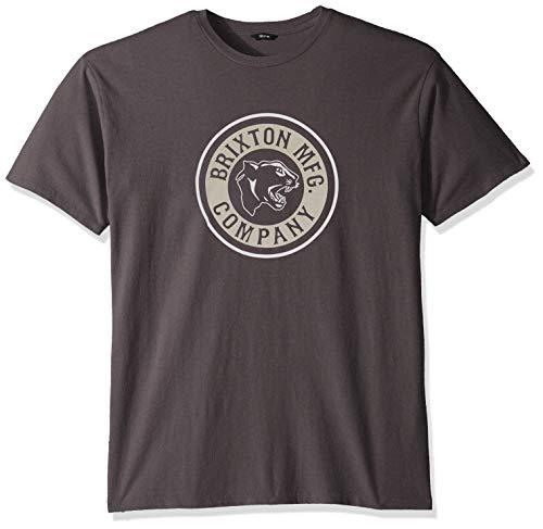 Brixton Forte S/S Stt T-shirt voor heren, Washed Black/Vanilla, XXL