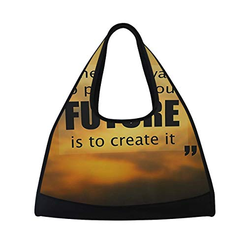 Womens Gym Bag The Best Way To Predict Future Is Create It Mens Duffel Bags Duffle Luggage Travel Bag
