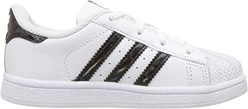 adidas Originals Superstar, Zapatillas para Niños, Color Blanco y Negro, 25.5 EU