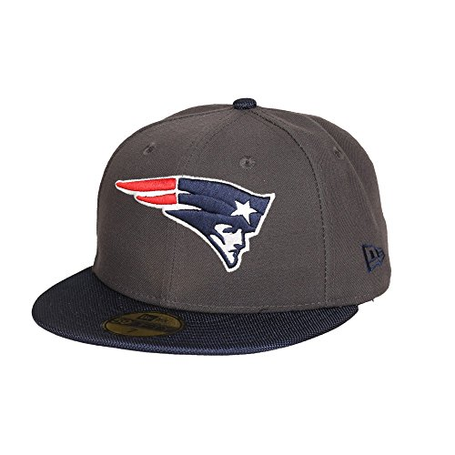 New Era New England Patriots Ballistic Visor 59FIFTY Fitted NFL Cap, Blau/Grau / New-England-Patriots, 6 7/8 - 55cm (S)