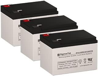 X-Treme XB-562 Replacement Batteries - 3X 12 Volt 12AH Batteries by SigmasTek