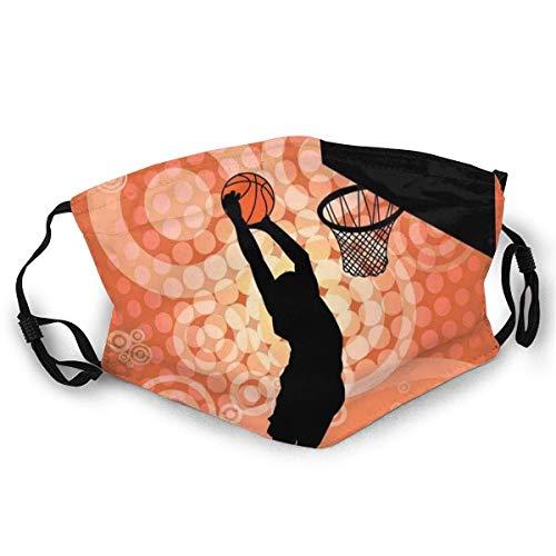 TABUE Gesichtsschutz Mundschutz Basketball Spieler Silhouette Athlet Wettbewerb Skimütze Hals Gamasche Kopfbedeckung
