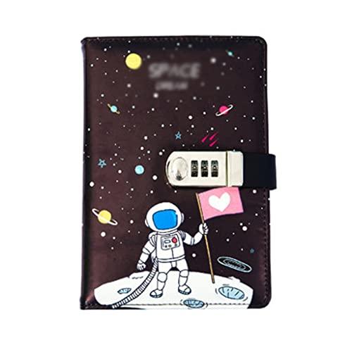 AAZZ Cuaderno Diario Conjunto De Notebook Lockable Fashion Password Diario Espacio Extranjero Personalidad Portátil Niños Portátiles (120 Hojas / 240 Páginas) Cuadernos para Mujeres (Color : D)