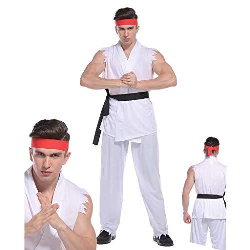 Rubber Johnnies TM Erwachsene Herren Straßenkämpfer Kostüm Karate Kinder Ryu Kämpfer Kostüm Ninja Lee