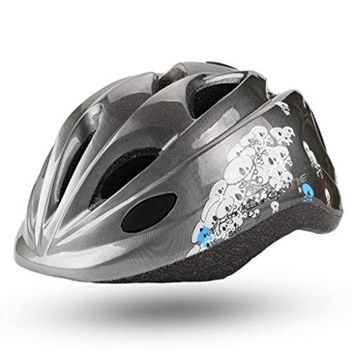 JM- Kinderhelm Fahrradkarikatur Reiten Helm Rollschuhlaufen einteilig Einstellbarer Schutzhelm
