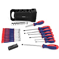Workpro 45-Piece Magnetic Screwdriver Set Includes Bits- Premium Tool Set with Sockets & Folding Rack (W000832A)