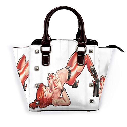 BROWCIN Tätowieren Sie ein sexy Teufel Pinup Girl Halloween Kunst Clip Design Abnehmbare mode trend damen handtasche umhängetasche umhängetasche