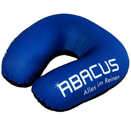 ABACUS REISEKISSEN NACKENKISSEN mit Mikroperlen - Nackenhörnchen Nackenstützkissen Reisehörnchen Nackenrolle Nackenstütze Kopfkissen (5347)