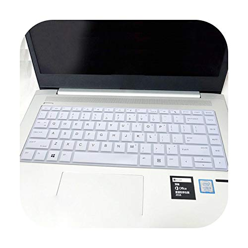 for HP Probook 430 440 G5 66 245 246 G6 820 840 G3 450 G4 EliteBook 1040 G3 14 inch Laptop Keyboard Cover Protector Skin-White-