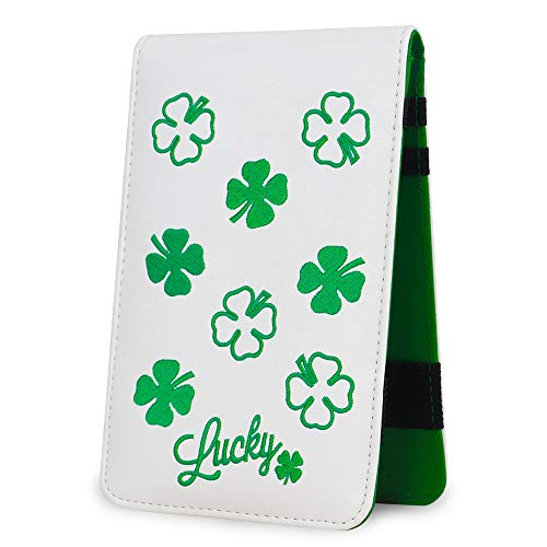 Big Teeth Golf Scorecard Holder Yardage Book Lucky Clover Pattern Golf Accessories