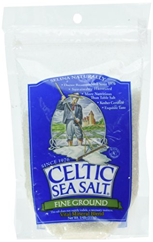 Fine Ground Celtic Sea Salt ¼ lb Resealable Bag