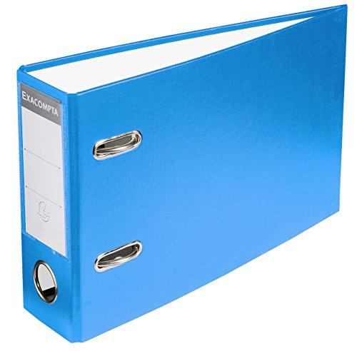 Exacompta 53252E Ordner (PVC, 2 Ringe, Rücken 70 mm, für Format DIN A5 quer) 1 Stück blau