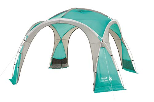 Coleman Event Dome Pavillon stabiles Partyzelt mit Stahlgestänge Sonnenschutz SPF 50 plus, blau, XL, 2000025128