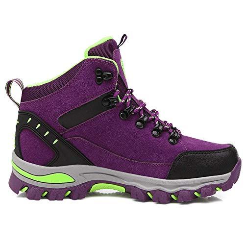 RTYUI Chaussures de sécurité Hommes Femmes Chaussures de Travail Chaussures d'escalade Portables Chaussures de randonnée en Plein airpurple-36