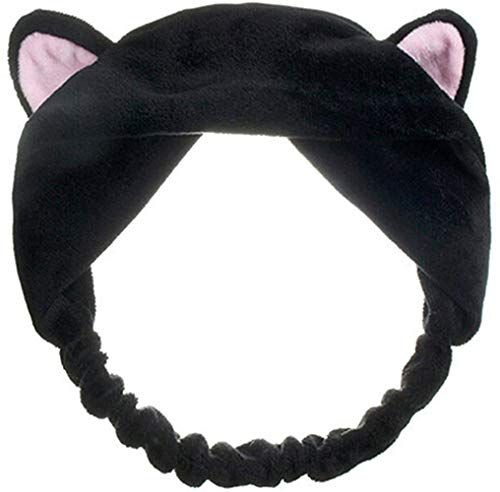 Sgualie Headband Hair Wear Makeup Shower Face Wash Hairband, Black, One Size