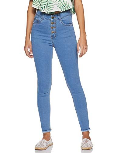 Miss Olive Women's Skinny Fit Jeans (MOSS19DEN30-13-115_Medium Blue_32)