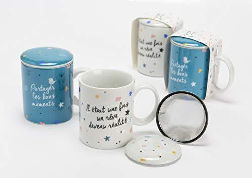 Amadeus Coffret 2 Mugs Filtre Thé Good Life